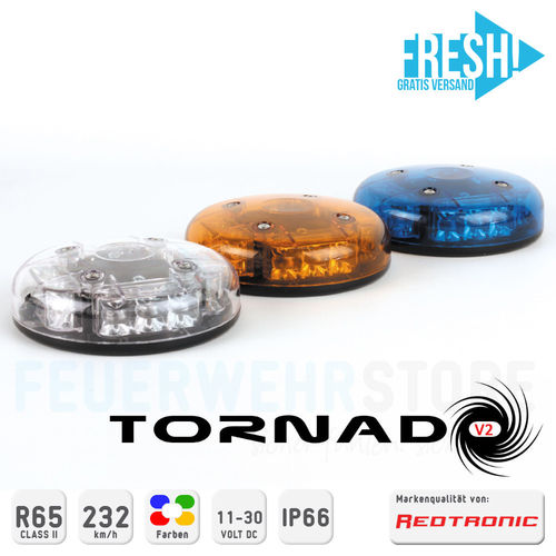LED Hochleistungs-Kennleuchte Redtronic Tornado-V2 - FRESH!