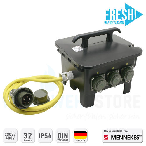 Mennekes Sechsfachverteiler THW-Version 230V/400V - FRESH!