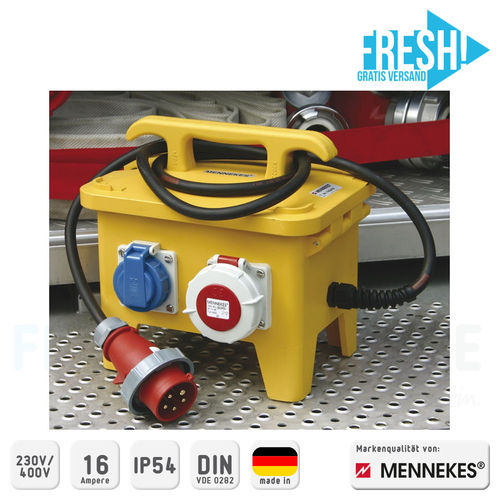 Mennekes Vierfachverteiler Feuerwehr-Version 230 V/400 V, 16 A - FRESH!