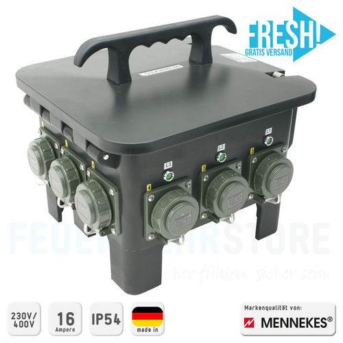 Mennekes Achtfachverteiler THW-Version 230 V/400 V, 16 A - FRESH!