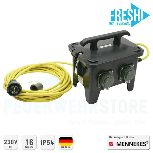 Mennekes Vierfachverteiler THW-Version 230 V, 16 A - FRESH!