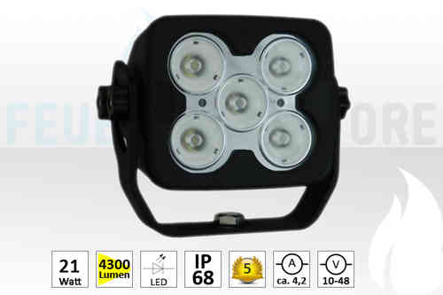 LED Strahler 5 LED XTREME Square