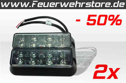 Code 3 LED X Frontblitzerset in weiß 24 Volt DC -50% Sonderaktion