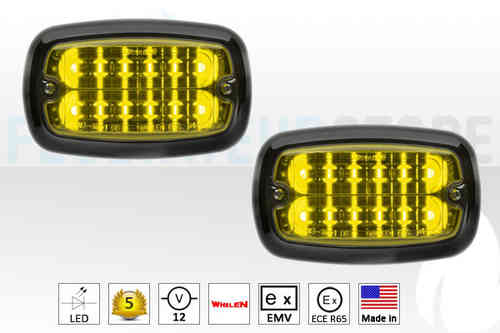Whelen M4 LED Frontlitzer ECE R-65 in Gelb