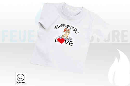 "Kinder T-Shirt ""Firefighters Love"""