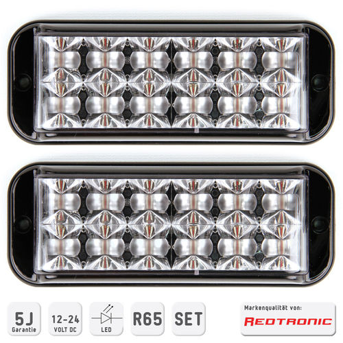 Redtronic Frontblitzerset BX62 R65 LED 1-10-farbig