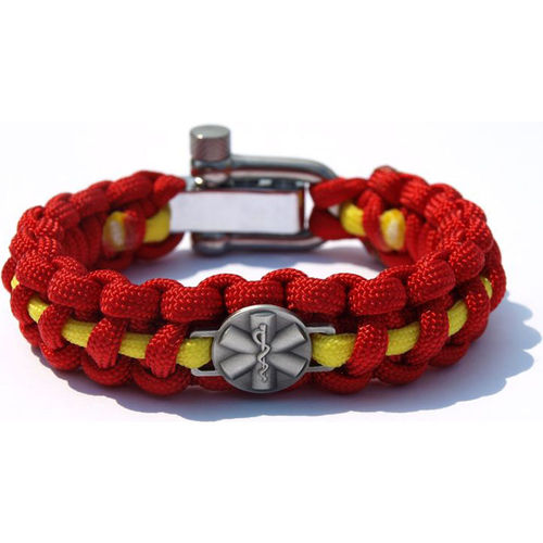 "Paracord Armband Rettungsdienst Metallemblem ""Star of Life"""